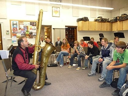 Elementary Student Outreach - Saxophobia