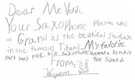 Hayden Thank You Letter
